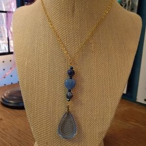 Jewelry - Upcycled crystal and sodalite necklace